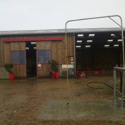 Douche pour les chevaux
