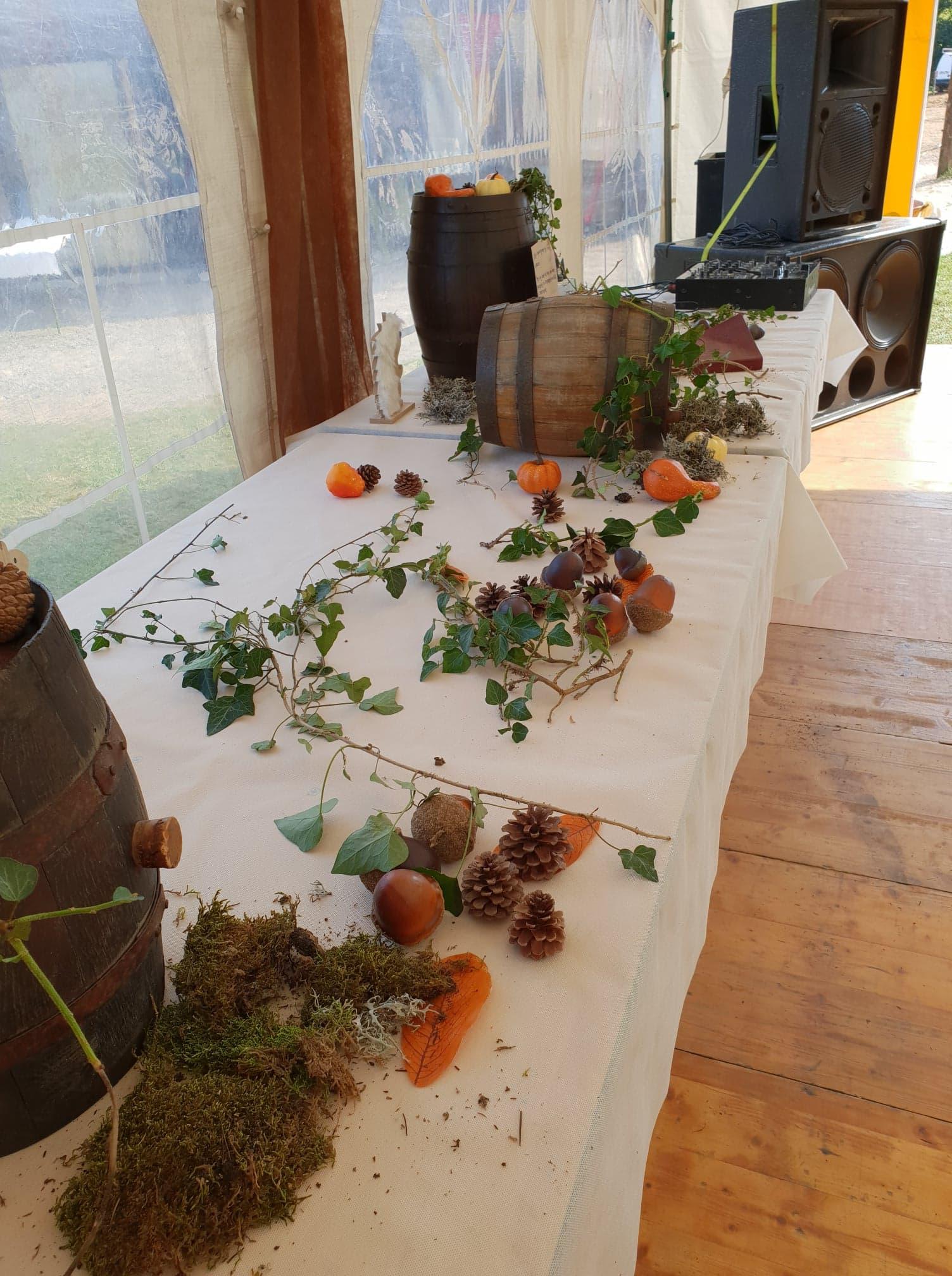 mariage table du breuvage
