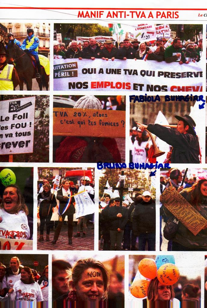 photo dans le journal cheval de la manif a paris1