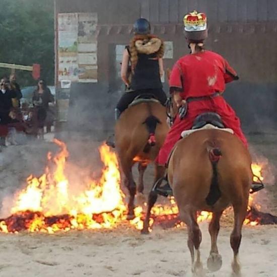 mes filles dans le feu avec les chevaux sur l'histoire de Rollon