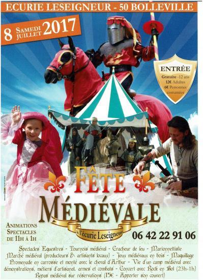 Affiche fete medievale ecurie leseigneur a bolleville 2017