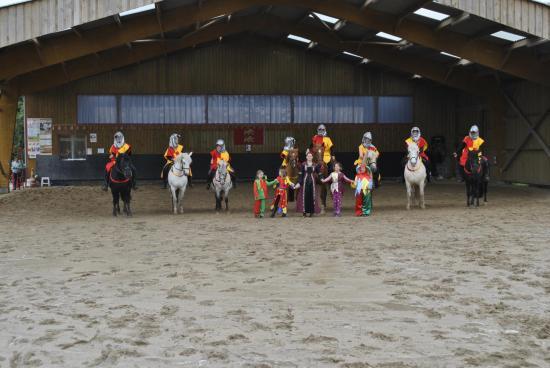 Carrousel des chevaliers d'Arthur sous le Manege