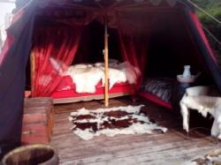 Tente Médiévale intérieur