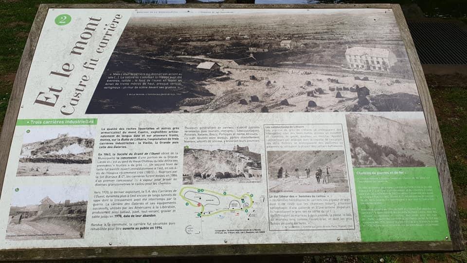 panneaux le long de la visite du Mont Castre