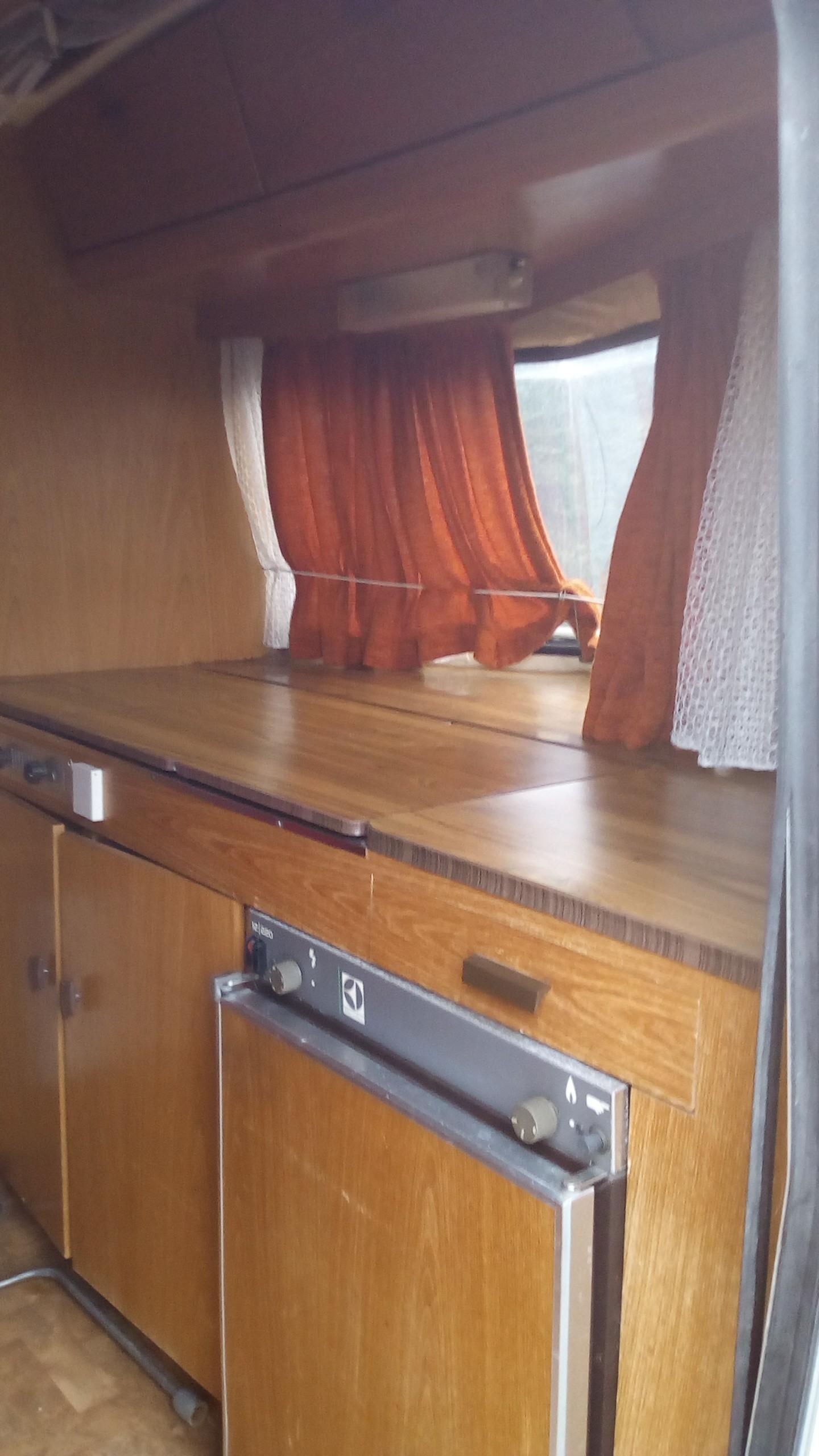caravane côté cuisine