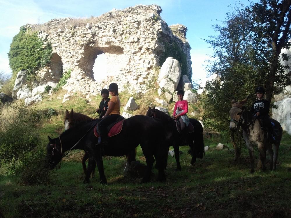 promenade equestre montée Mont castre