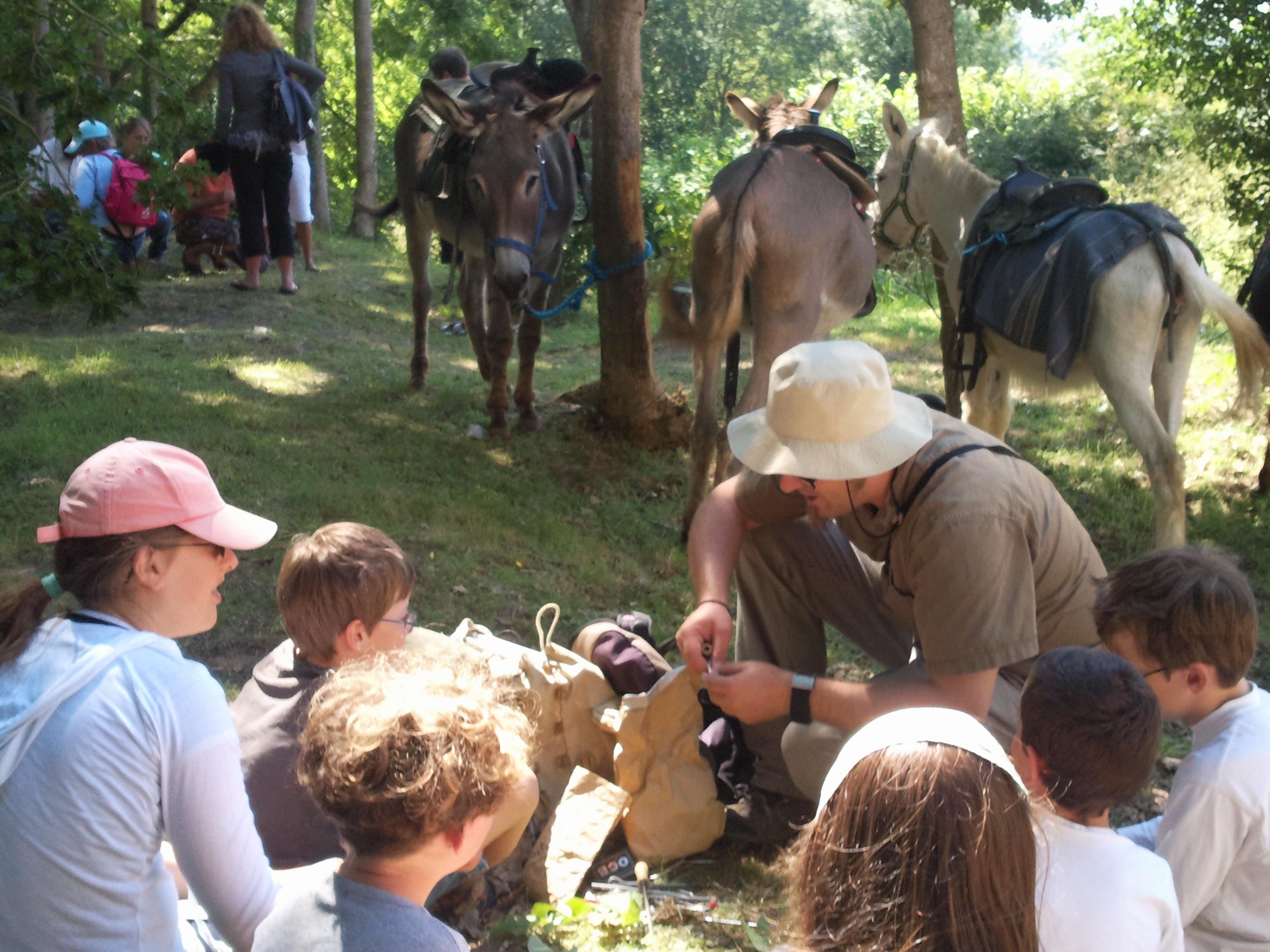 promenade equestre montée Mont castre avec atelier musique verte
